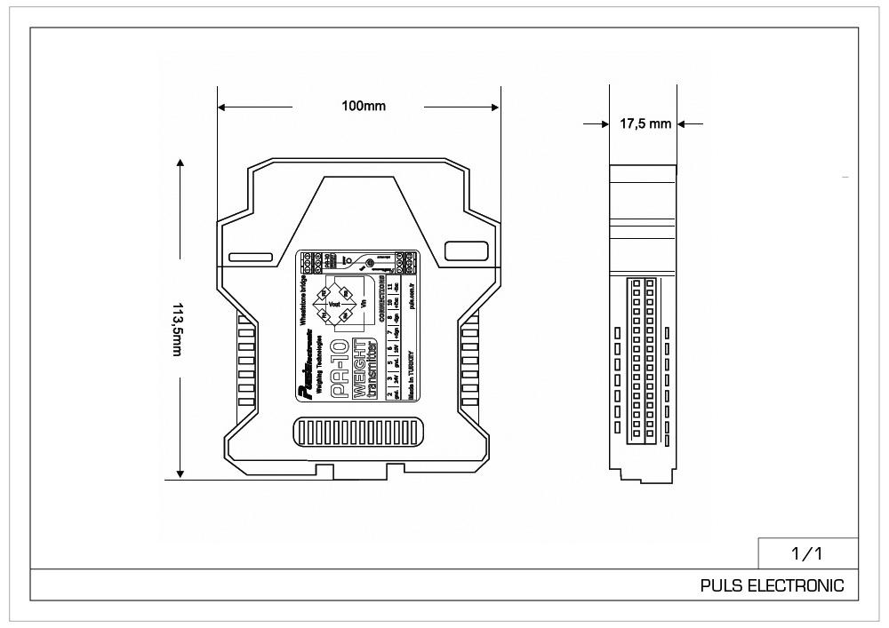 PA-10 Trasmettitore di peso