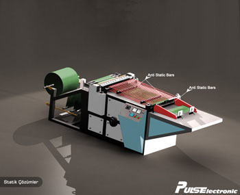 Static Application in in Bag Cutting Machine