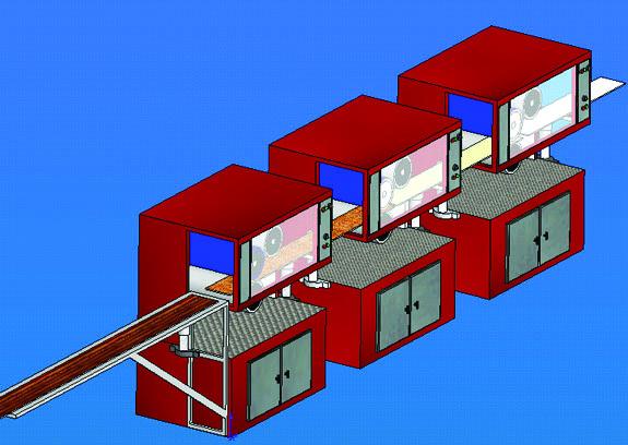 Static Application at PVC Profile Printing Machine